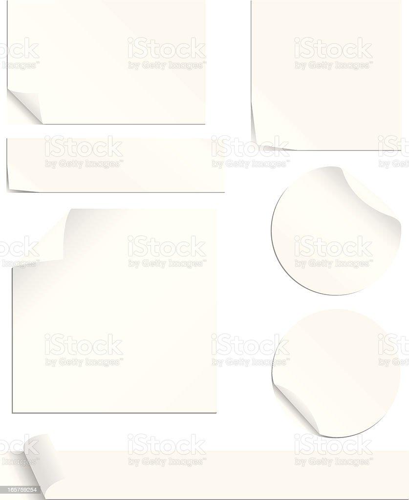 White Labels Set vector art illustration