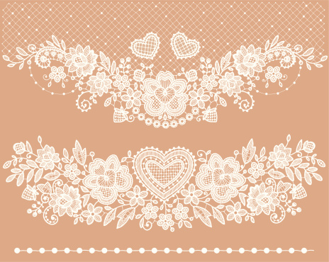 White lace Clip art.