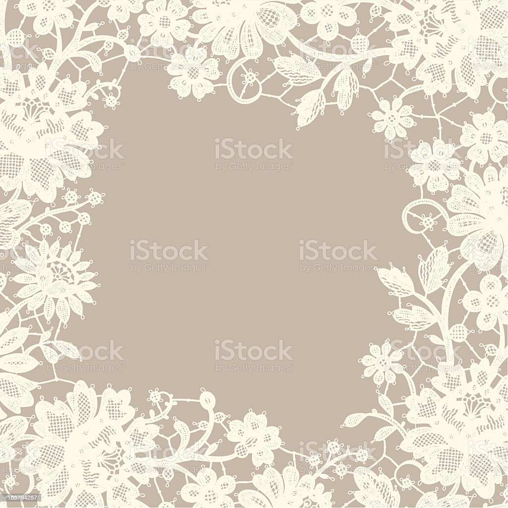 White Lace frame. Foursquare Greeting Card. royalty-free white lace frame foursquare greeting card stock vector art & more images of angle
