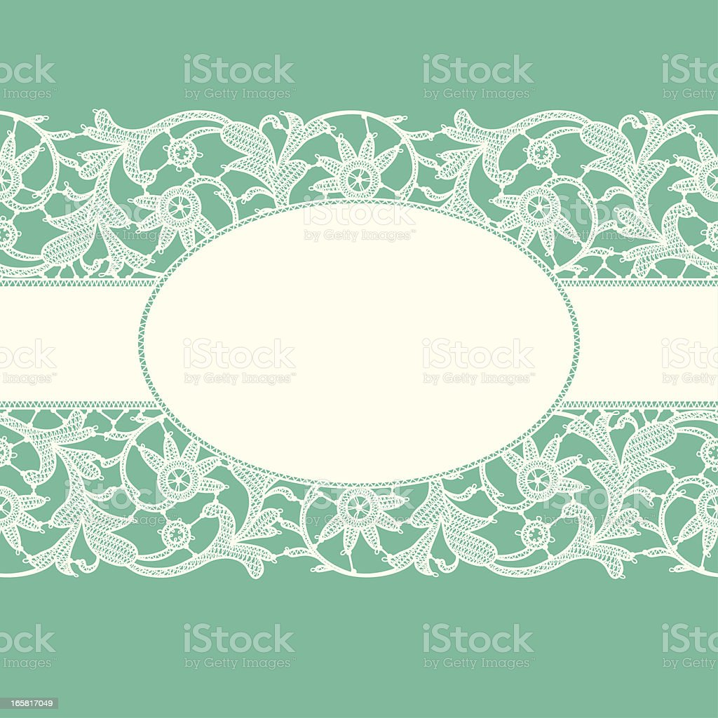 White Lace Ribbon. royalty-free white lace ribbon stock vector art & more images of backgrounds