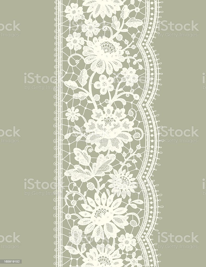 White Lace Vertical Seamless Pattern. Floral pattern. royalty-free stock vector art