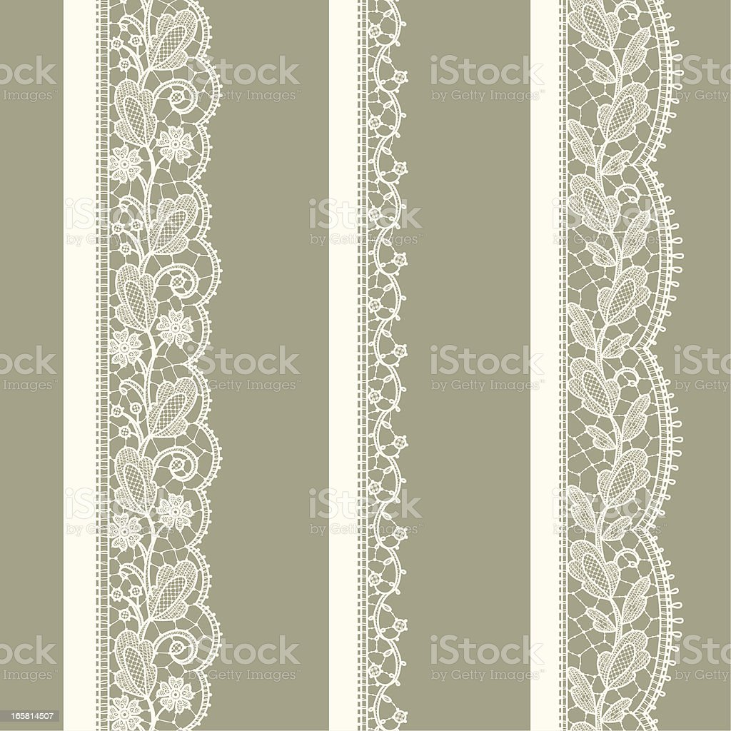 White Lace. vertical Seamless Pattern. vector art illustration