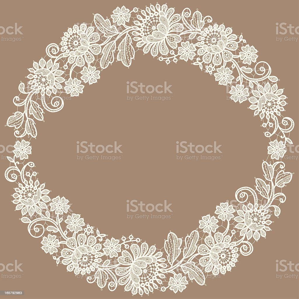 White Lace. Wreath. Floral Pattern. royalty-free stock vector art