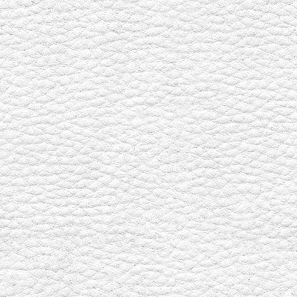 White leather textile in vector - highly textured material with visible grooves and convexs - uneven flat soft surface - upholstery material for sofas and armchairs - densely compact surface composed of small convex cells