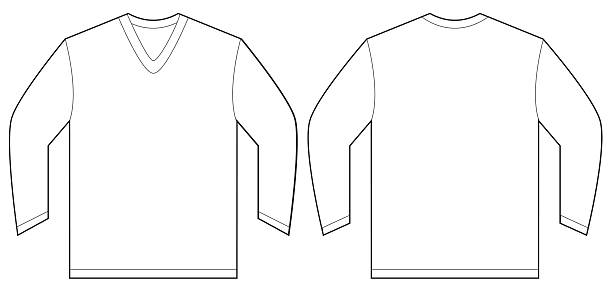 Royalty Free Boys V Neck T Shirt Template Clip Art, Vector Images ...