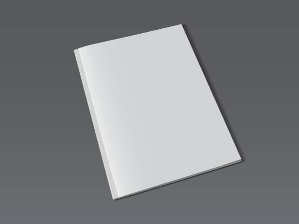 illustrations, cliparts, dessins animés et icônes de magazine blanc sur le fond foncé maquette vers le haut de vecteur - ellen page