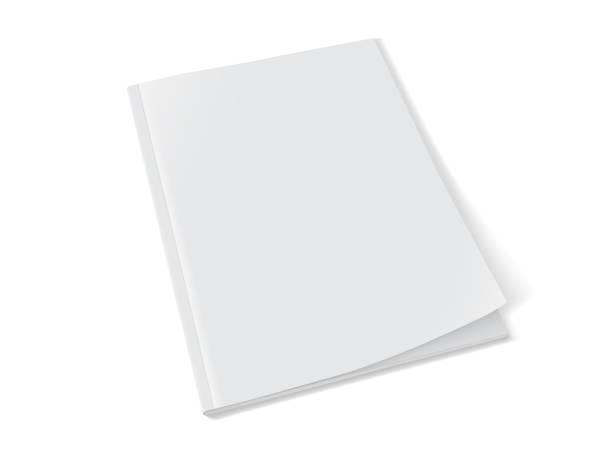 stockillustraties, clipart, cartoons en iconen met wit magazine op witte achtergrond mock up vector - magazine
