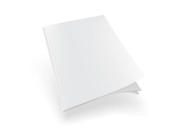 illustrations, cliparts, dessins animés et icônes de magazine blanc sur le fond blanc maquette vers le haut de vecteur - ellen page