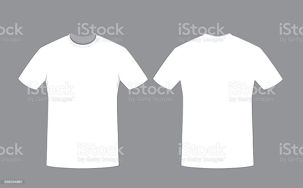 Blanco Ilustración La Y Camiseta Hombre En De Delante Detrás W9IE2DHY