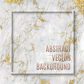 White Marble Texture with Gold Veins Vector Background, useful to create surface effect for your design products such as background of greeting cards, architectural and decorative patterns. Trendy template inspiration for your design.