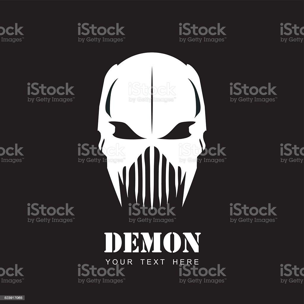 White mask aliendemon predator artwork stock vector art more demon predator artwork royalty free white mask voltagebd Images