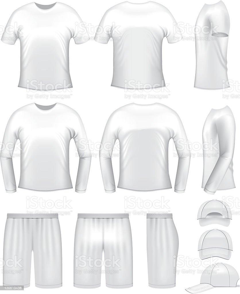 White men's clothing templates vector art illustration
