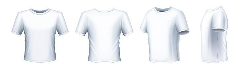 White Men's T-shirt