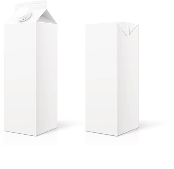 White Milk or Juice Package White Milk or Juice package. Vector illustration EPS10. packing stock illustrations
