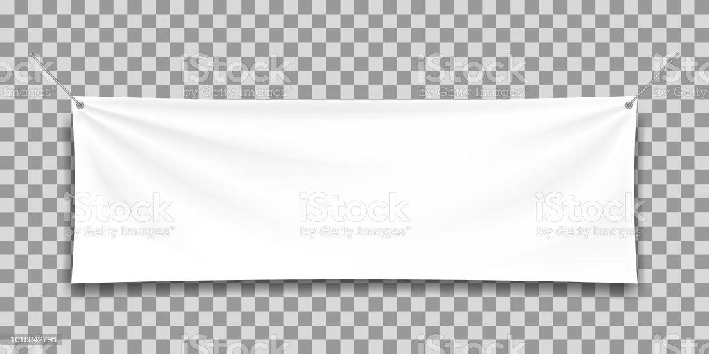 White mock up textile banner. vector art illustration
