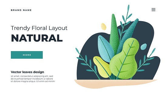 White modern flat design concept. Landing page template . Modern flat Floral vector illustration concept for business web page, website and mobile website. Vector illustration in cartoon style