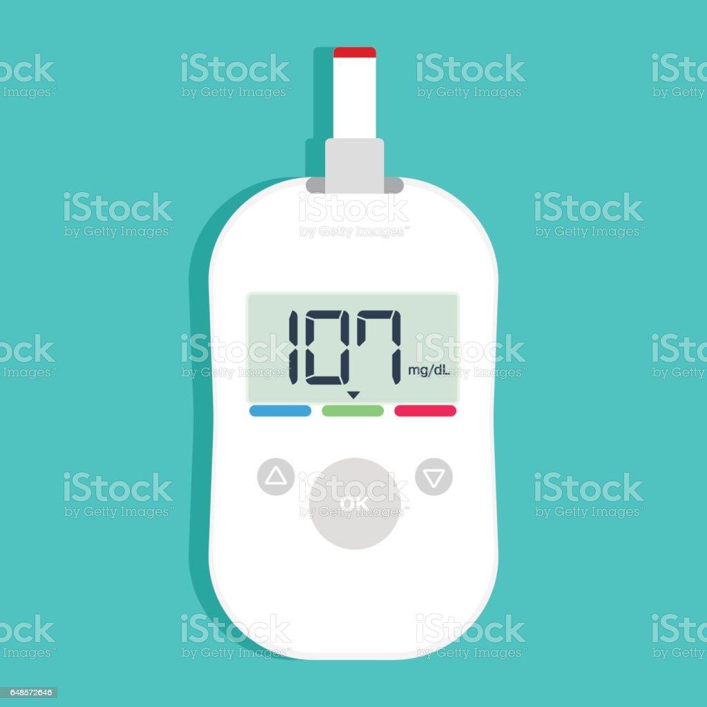 White modern glucose meter. vector art illustration