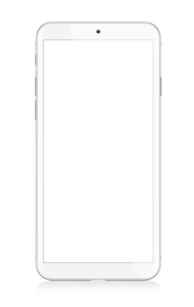 White Modern Smartphone vector art illustration