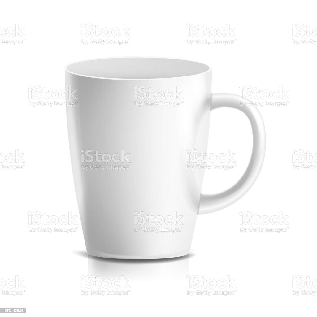 3d Blanc Café Isolée Mug Réalistes Céramique Vector Tasse À Thé En QrBeWExdCo