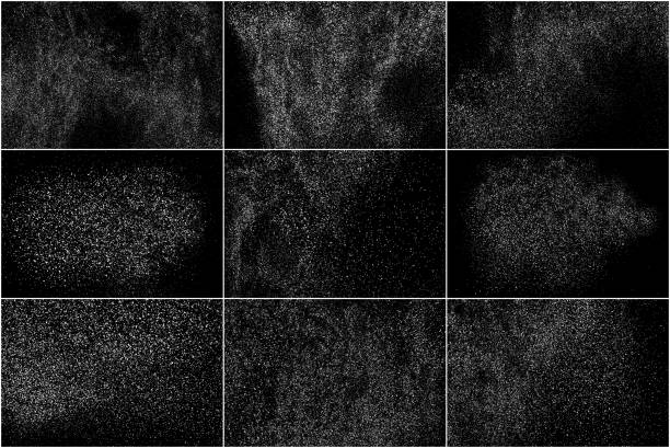 ilustrações de stock, clip art, desenhos animados e ícones de white noise granules. set vector elements. - storm effects