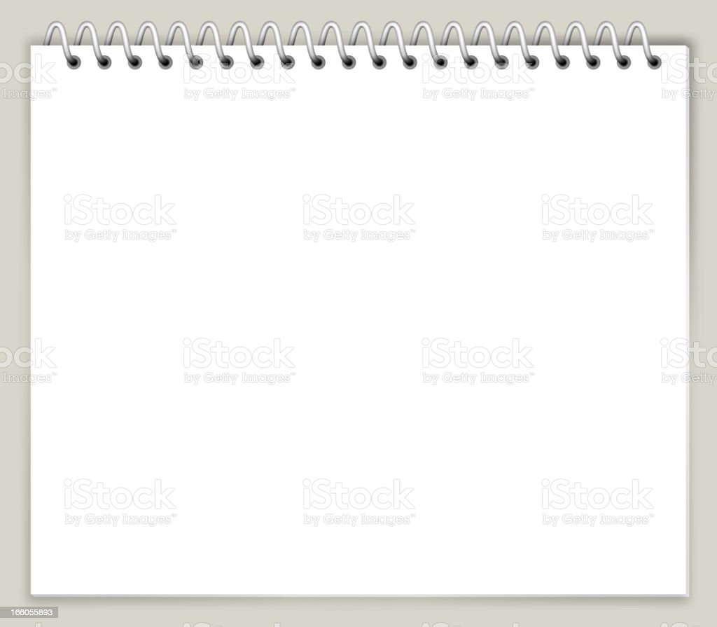 White Notebook Paper vector art illustration