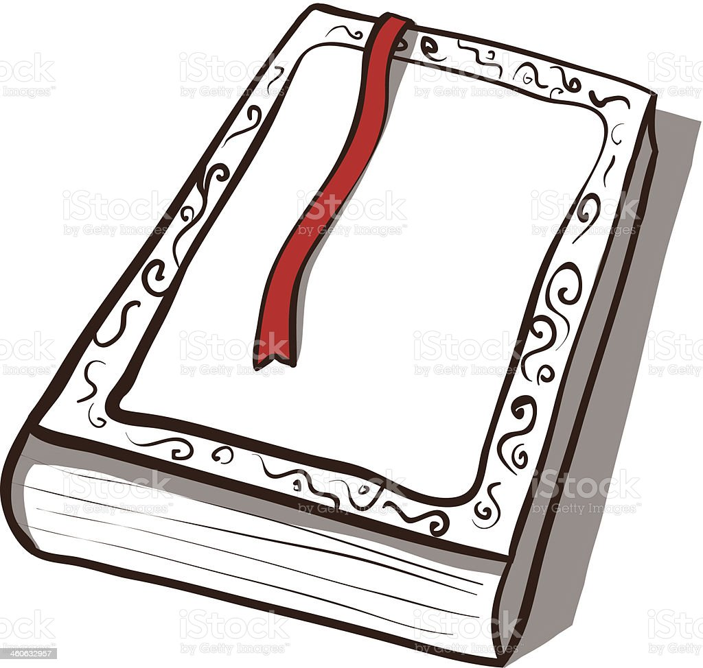 White old book. Vector icon. Hand drawn illustration royalty-free stock vector art