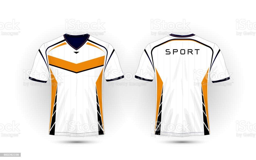 White orange and black layout football sport tshirt kits jersey white orange and black layout football sport t shirt kits jersey maxwellsz