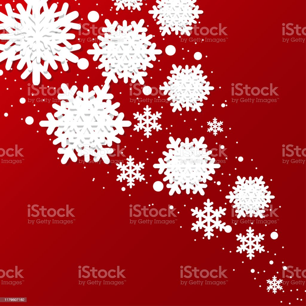 Origami paper art of Snow flake with Christmas gifts, Merry ... | 1024x1024