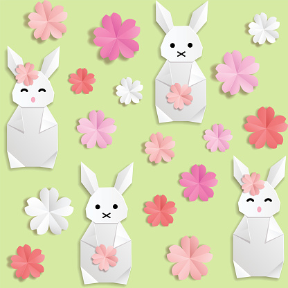 White origami paper