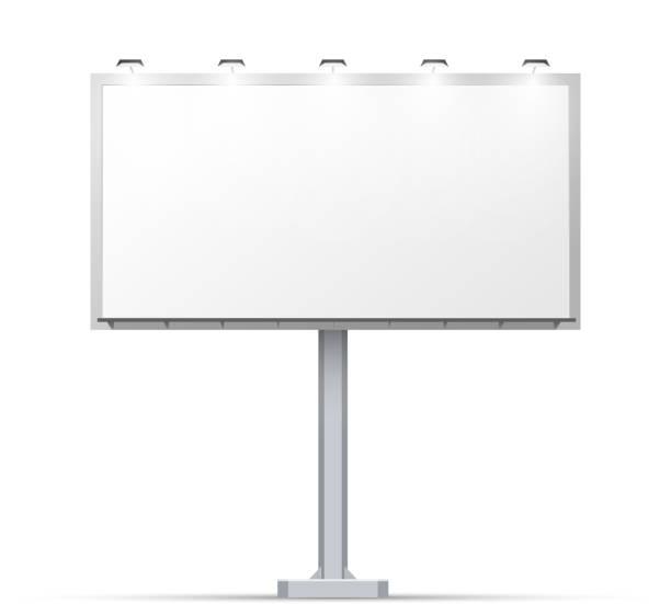 белый открытый щит с место для рекламы - space background stock illustrations