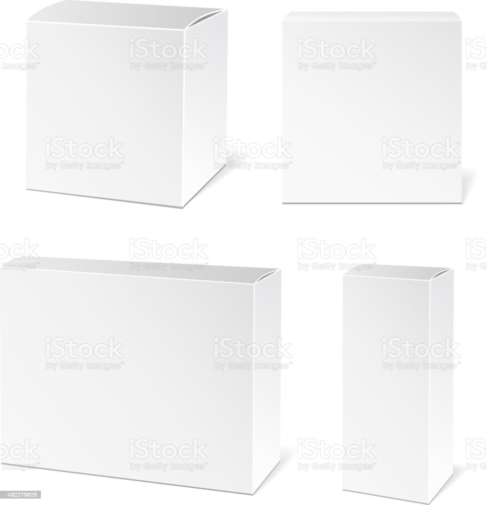 White Package Box vector art illustration