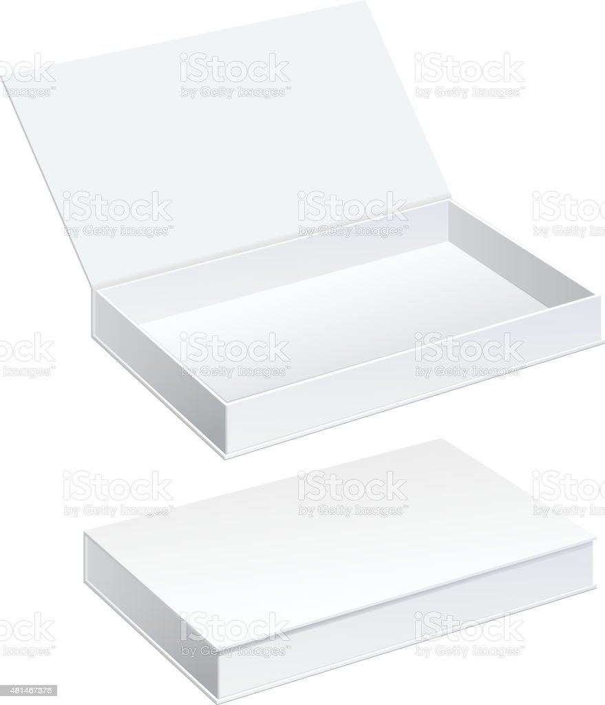 White Package Cardboard Box set vektorkonstillustration