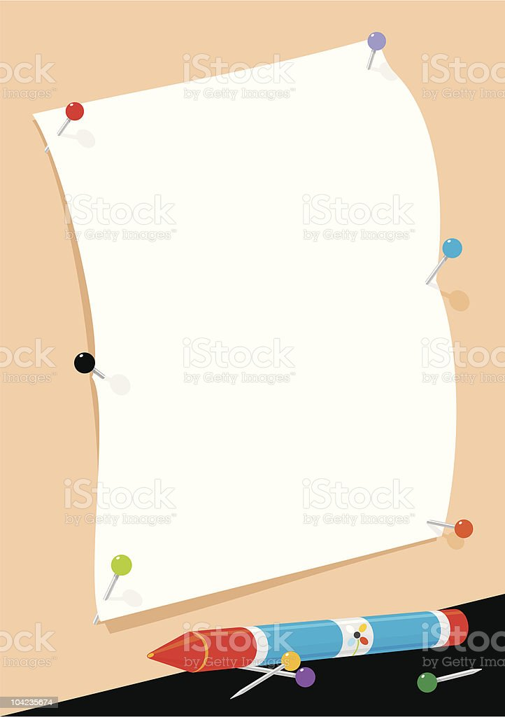 White Page for Messages royalty-free stock vector art