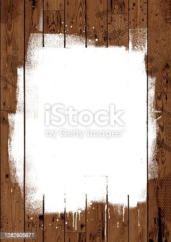 istock White paint on wooden boards 1282605671