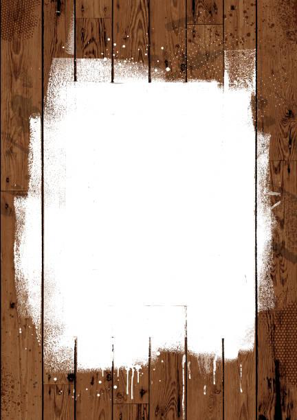 White paint on wooden boards vector art illustration