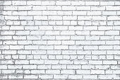 White Painted Brick Wall Grunge Rustic Textured Background Vector Illustration