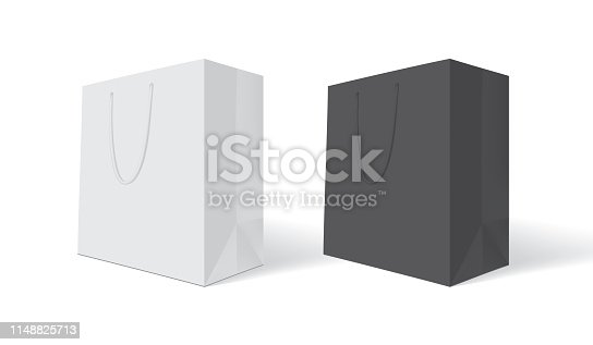 istock white paper bag on white background mock up 1148825713