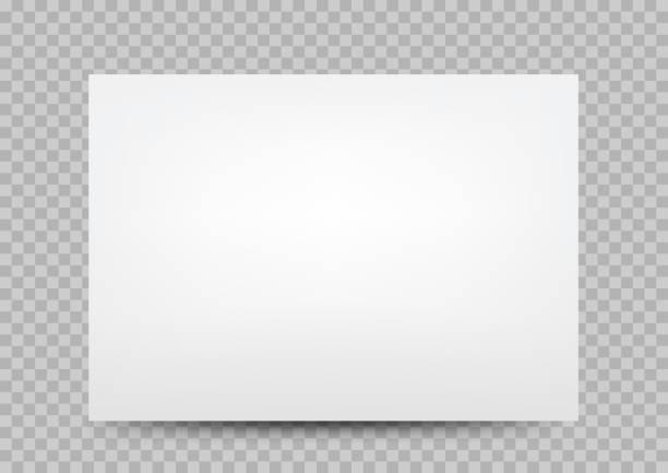 white paper banner cover transparent vector art illustration