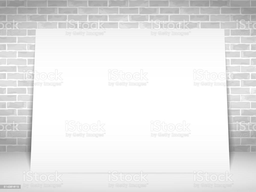 Livro Branco Banner - ilustração de arte vetorial
