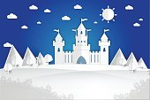 White paper castle