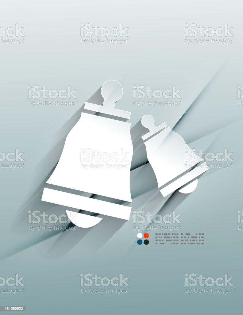 White paper Christmas design background royalty-free stock vector art