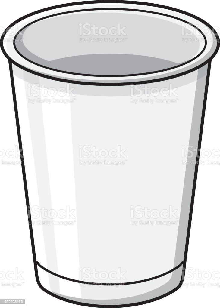 White paper cup template vector art illustration