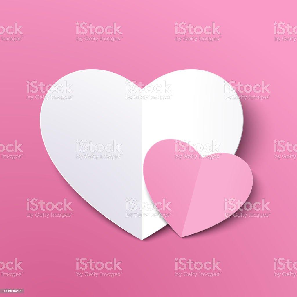 Weisses Papier Schneiden Herz Fur Valentinstag Oder Jede Andere Liebe