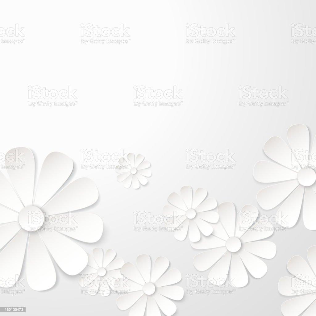 White paper flower postcard. royalty-free stock vector art