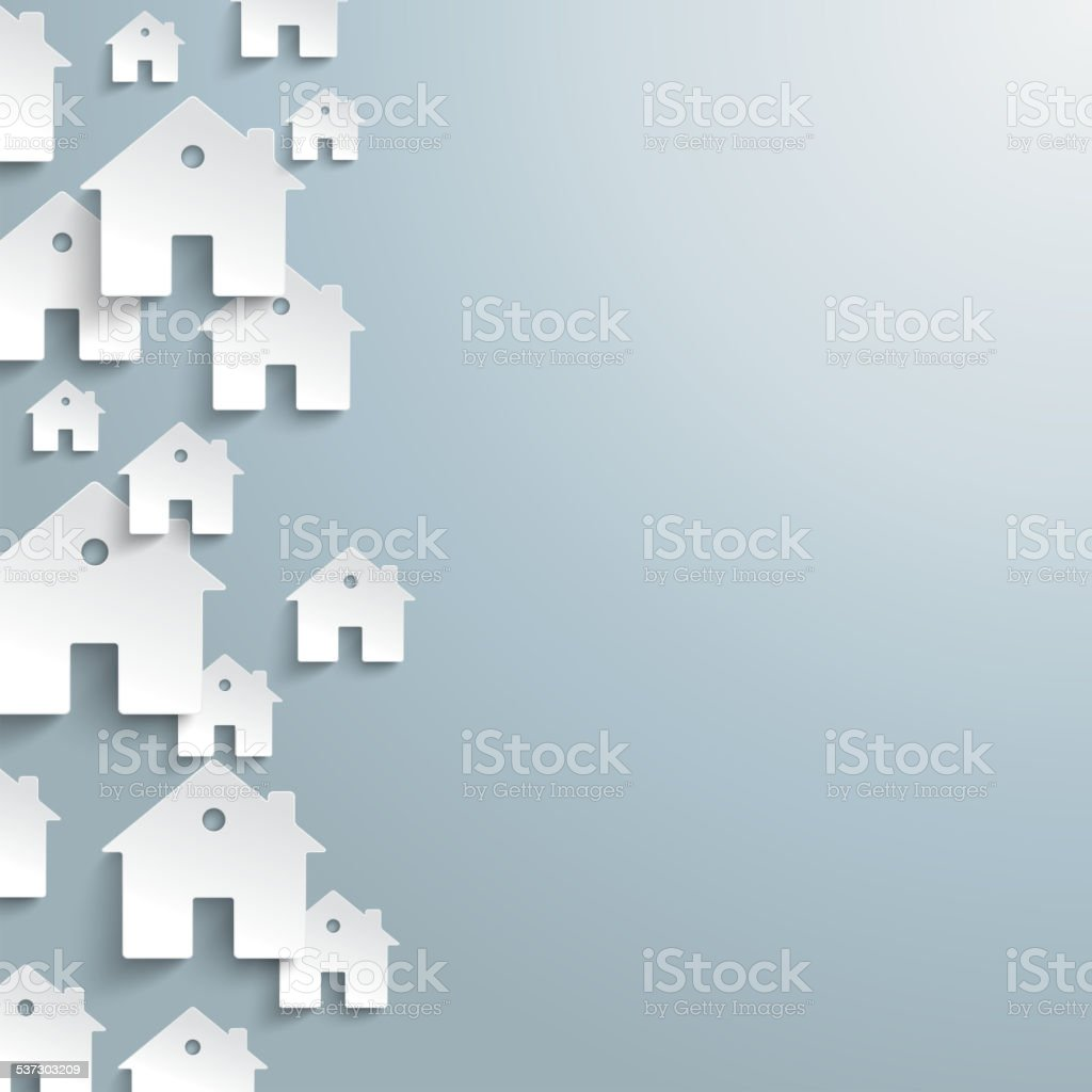 White Paper Houses Side Background vector art illustration