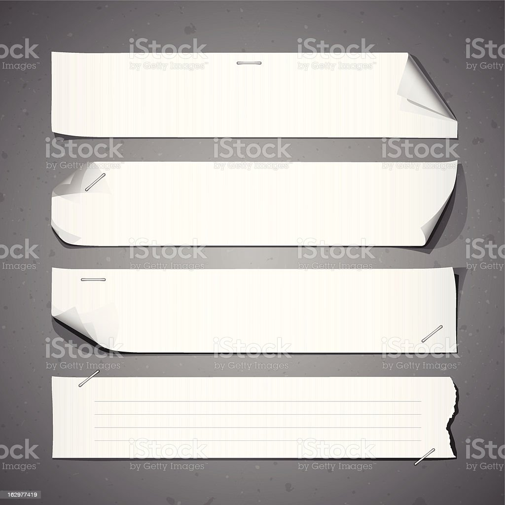White paper Long collections design royalty-free stock vector art