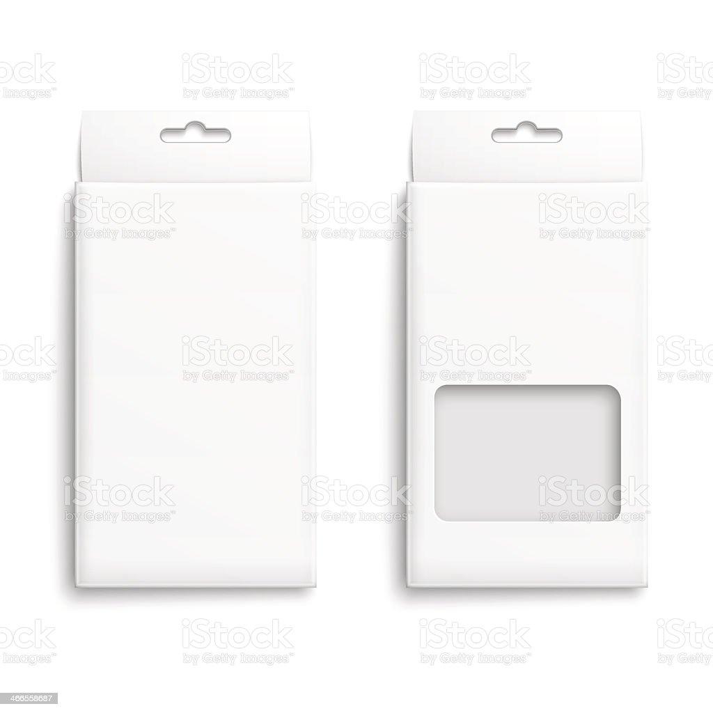 White paper packaging box. vector art illustration