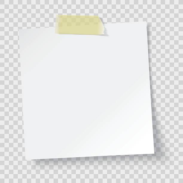 biały papier z przypomnieniem - notes stock illustrations