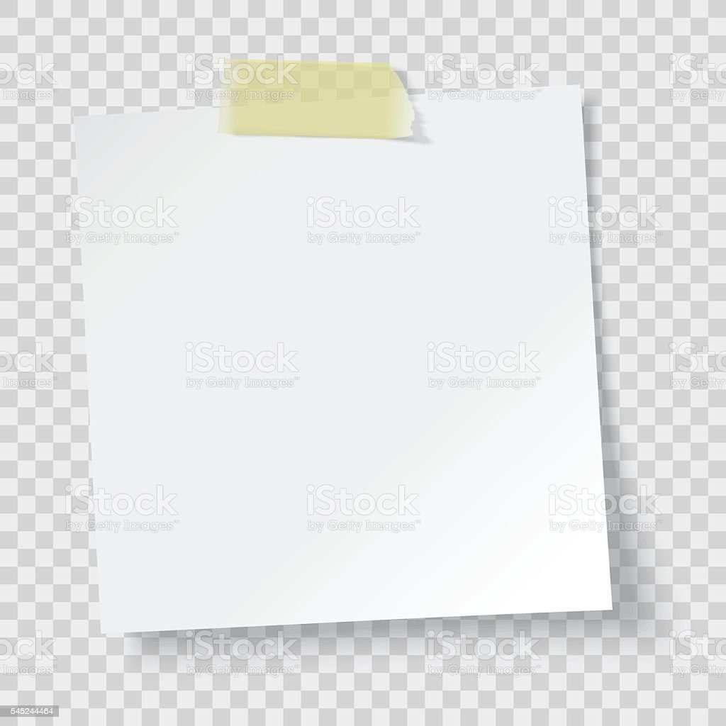 white paper reminder vector art illustration