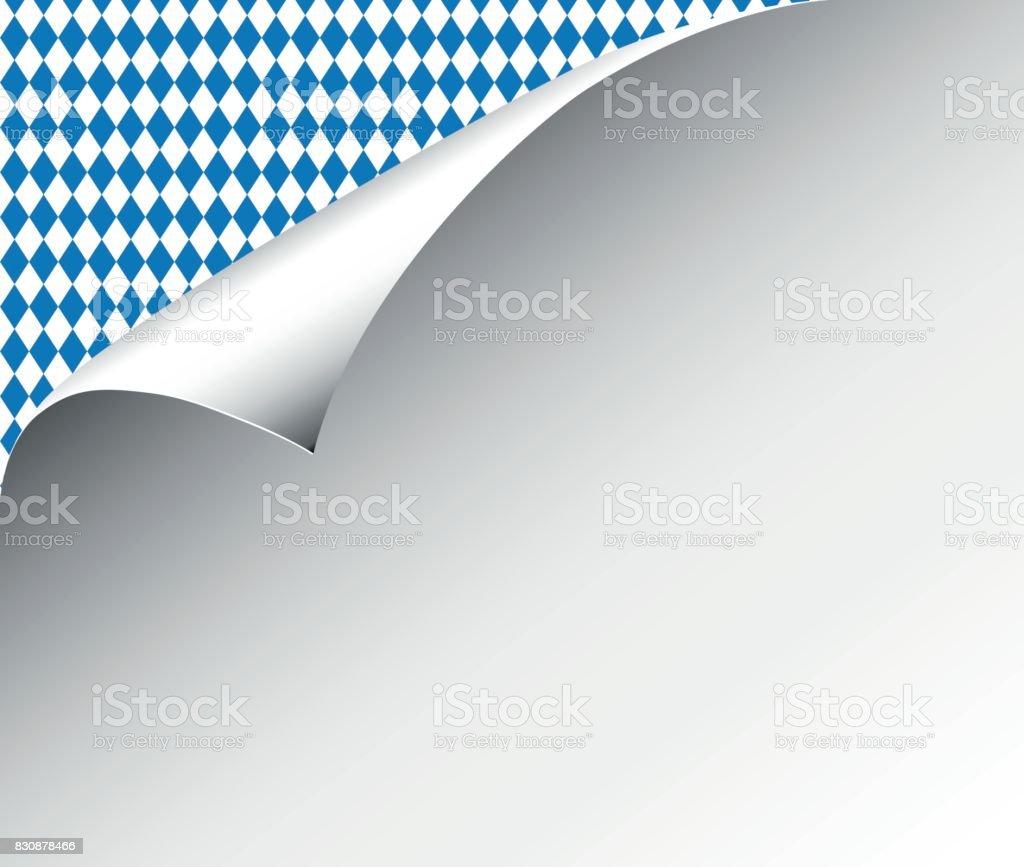 Weißes Papierblatt mit Raute Muster, Papier für Oktoberfest – Vektorgrafik